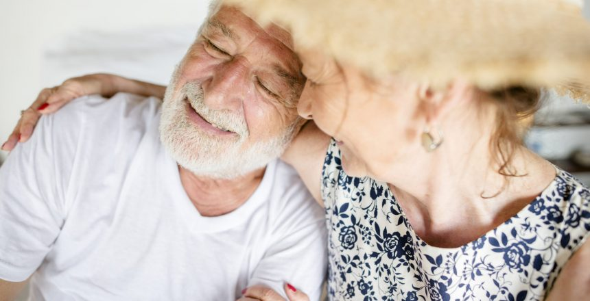 Lovely mature couple on romantic vacation